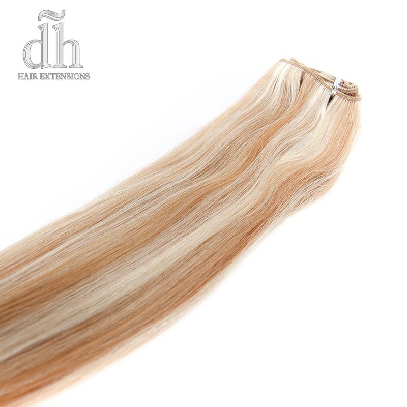 Extensões de cabelo em banda com californianas, cabelos 100% naturais Remy