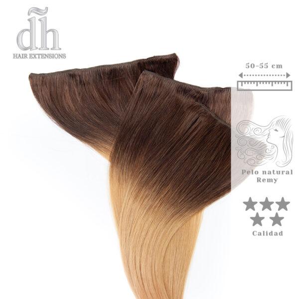 Extensões californianas Remy com clip - DH Hair Extensions, 3 camadas