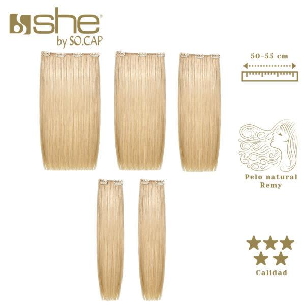 Extensões de clip Easy Long Hair da marca She by Socap