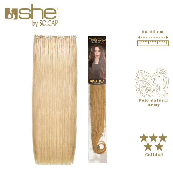 Extensões de clip Hair Clip 23 da marca She by Socap
