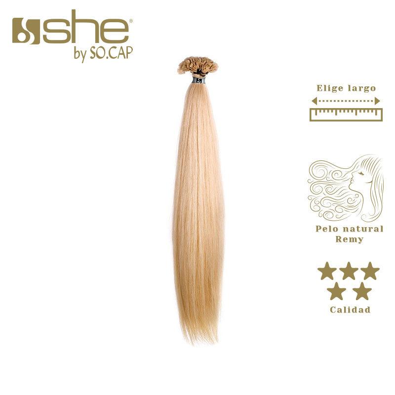 Extensões cabelo liso de queratina. Marca She by Socap