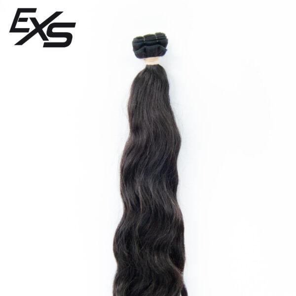 Pelo virgen de cabello hindú cosido con textura ondulada