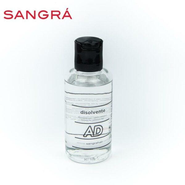 Frasco de vidro de solvente para adesivos Sangrá.
