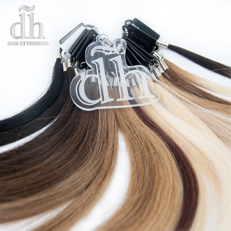 Mostruário de cor da marca DH Hair Extensions