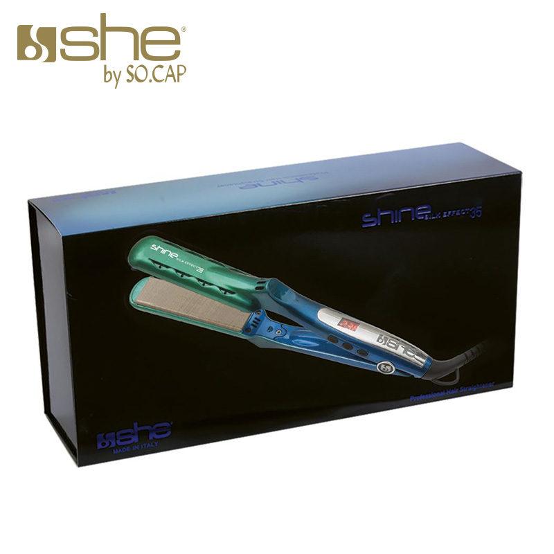 Embalagem prancha alisadora Shine Silk Effect 35