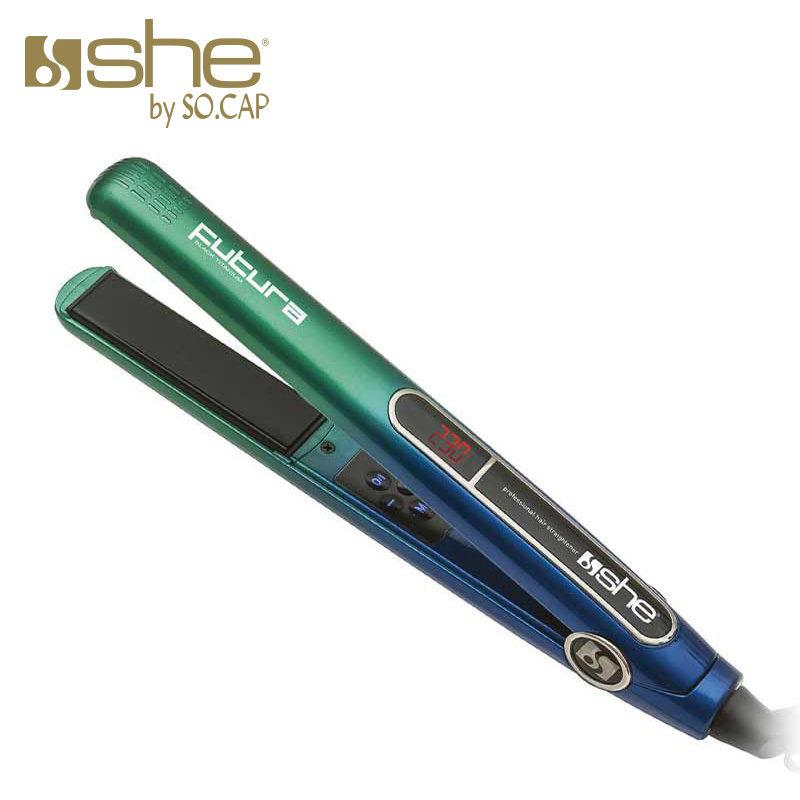 Alisador Futura cor azul e verde