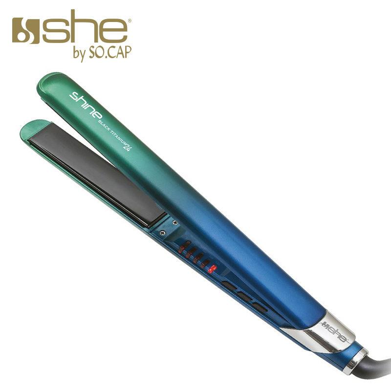 Alisador Black Titanium 24 cor verde e azul