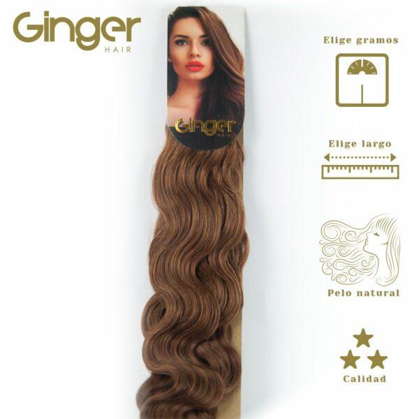 Extensões onduladas costuradas Ginger, vista embalada