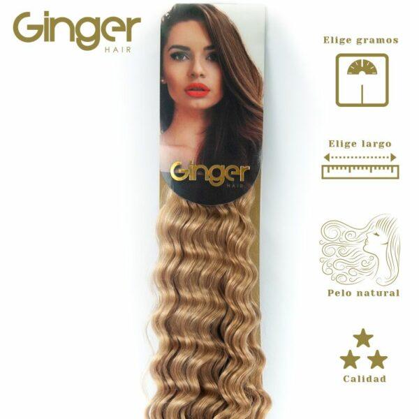 Extensões encaracoladas costuradas Ginger, vista embalada