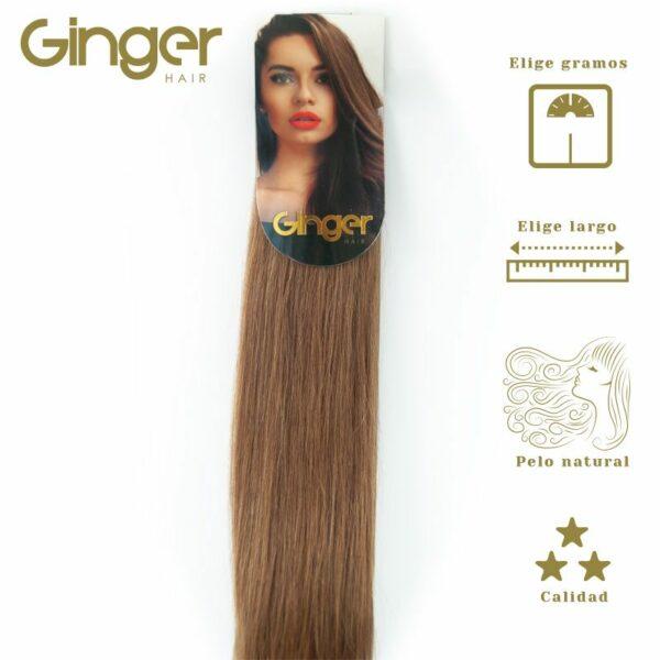 Extensões de cabelo em banda Ginger, vista embalada