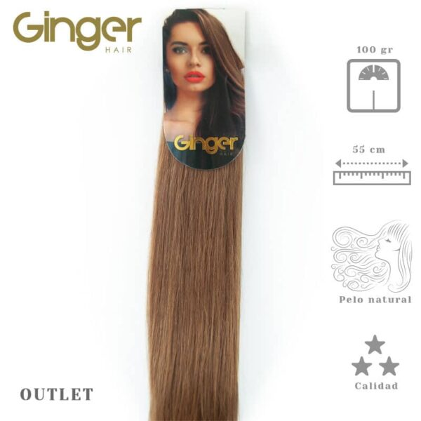 Extensão de cabelo em banda outlet Ginger de 55 cm