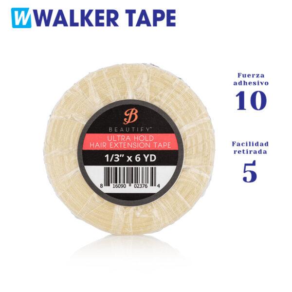 Fita adesiva de dupla face da marca Walker Ultra Hold com força adesiva nível 10 e capacidade de remoção nível 5.