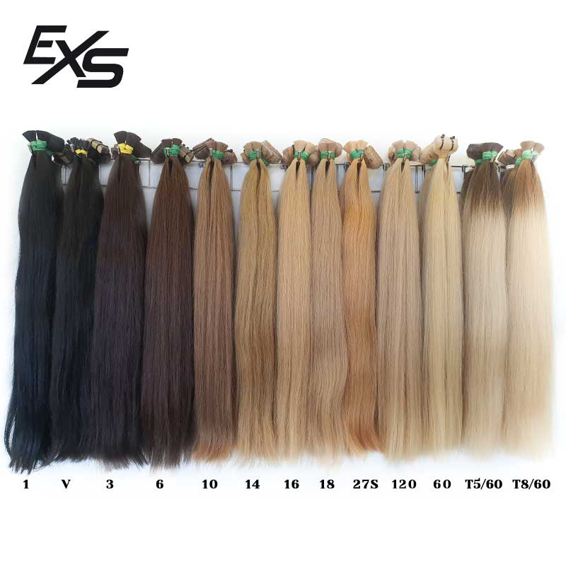 Tabela de cores das extensões de cabelo virgem asiático
