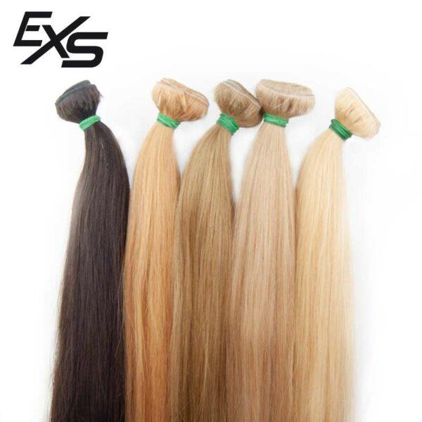Extensões em banda de cabelo virgem asiático com cor posta desde os castanhos aos loiros