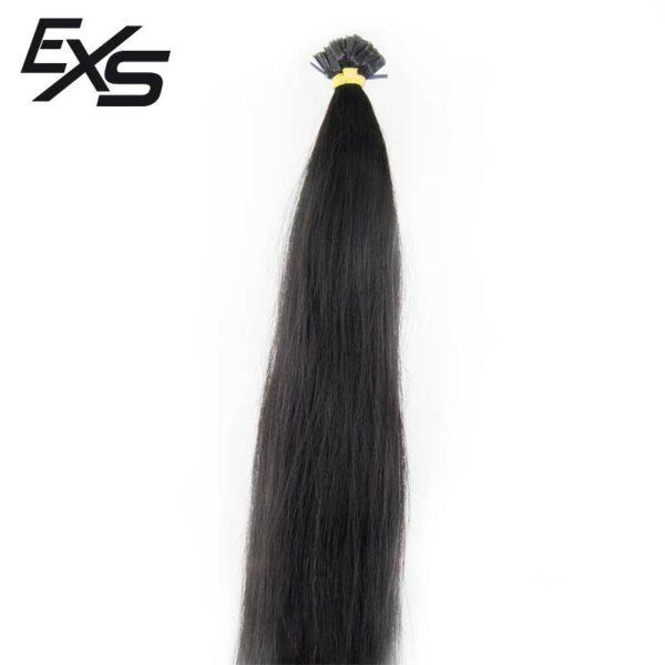 Extensões de queratina em cabelo virgem asiático