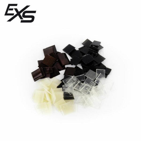 Unhas de queratina da marca Extensiones Sur na cor castanho chocolate, preto, bege ou transparente
